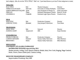 46 Acting Resume Template For Microsoft Word, How To Make An Acting ...