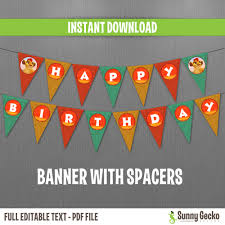 Disney The Lion Guard Happy Birthday Banner With Spacers Instant