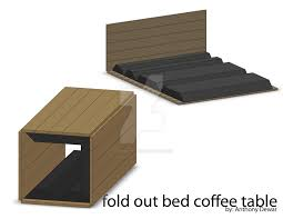 fold out coffee table bed by Edge-Effect ...