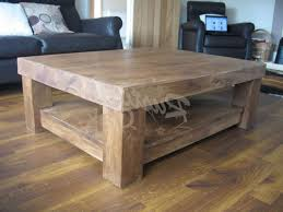 most popular chunky wood coffee tables inside chunky 4 leg coffee table with shelf rustic