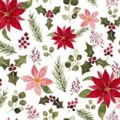 Poinsettia Designs Poinsettia Fabric Wallpaper Home Decor Spoonflower