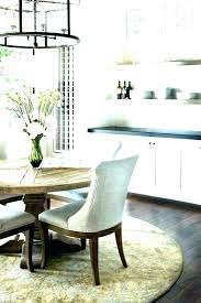 what size area rug for kitchen table sizes rugs round dining room bedroom