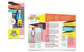 Free Tri Fold Brochure Templates Word Extraordinary Kids Consignment Shop Brochure Template Word Publisher