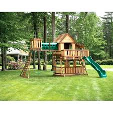 playhouse plans with swing set simple wooden swing set wood kits sets plans free simple wooden
