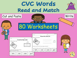 Cvc are the words that are spelled with a consonant, vowel and then consonant again. Cvc Words Cut Paste Match Worksheets Phonics Teaching Resources