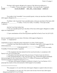 008 Divorce Papers Template Form Child Support Contract