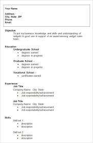 College Student Resume Format Download Template S