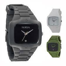 mens nixon watches nixon the player rubber silicone quartz men s watch