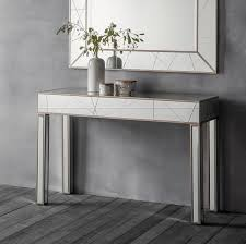 mirrored console table. hudson hoyton mirrored console table