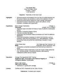 emt resume objective paramedic resume template paramedic resume template  free printable ideas firefighter emt resume objective