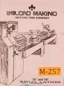 industrial machine tool manuals schematics broch leblond 15 19 lathes 3940 instructions and parts manual 1984