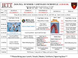 Summer Camp Daily Schedule Template Summer Camp Daily Schedule Five Day Camp Schedule Template Free Pdf