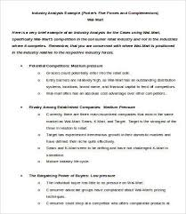 industry analysis template industry analysis template 6 free sample example format