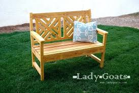 homemade garden bench ideas free plans to build a woven back bench from white wooden outdoor