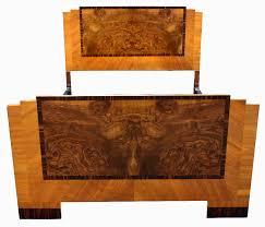 Art deco period furniture Early Modernism Art Deco Stylish 1930s Walnut Double Bed Antiquescouk Art Deco Antiquescouk