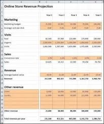 Free Online Business Plan Template Online Store Revenue Projection Project Plans Business How To