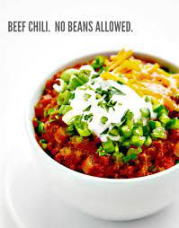 thick and beefy beanless chili recipe