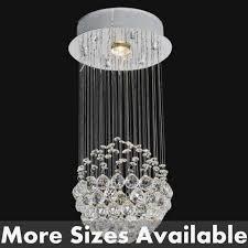 sphere modern crystal chandelier small