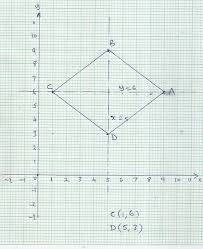 Plot The Points A 9 6 And B 5 9 On The Graph Paper These