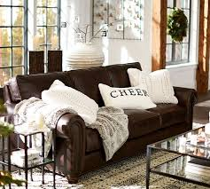 decorating brown leather couches. Webster Leather Sofa More Decorating Brown Couches