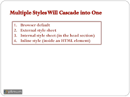 cascade style sheet styles define how to display html elements online presentation