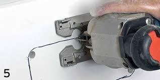 photo of cutting the fiberglass
