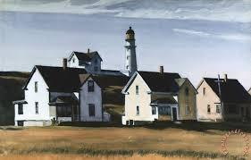 lighthouse hill cape elizabeth maine painting edward hopper lighthouse hill cape elizabeth maine art print