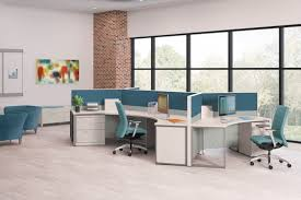 office pod furniture. Brilliant Pod Office Table Pod With Three Teal Cubicles Placed Together To For The Pod  Each Desk In Pod Furniture