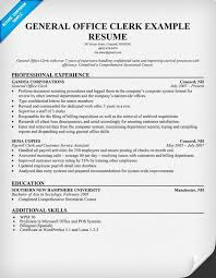 Administration General Office Clerk Resume Example Vinodomia