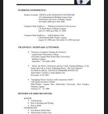 Sample Resume For Fresh Graduate Information Technology For Resume