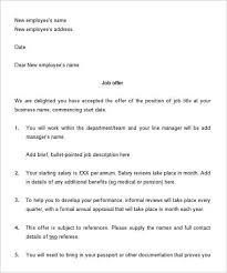 how to write a job offer letter offer letter example sample offer letter template format sample