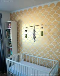 accent wall stencils chic gold accent walls with scallops wall stencil royal design studio accent wall accent wall stencils