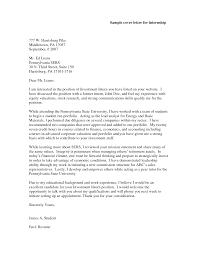 Cover Letters Letter Template For Internship Internships Sample