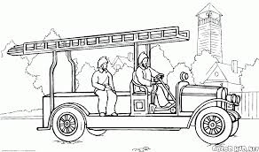 Small Picture Coloring page Fire truck Scania
