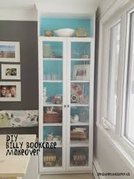 awesome furniture bookcase with glass doors zen shmen diy billy bookcase makeover how to