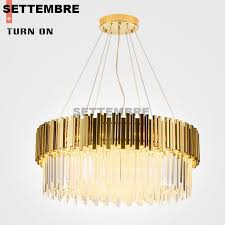 postmodern crystal chandelier light living room simple hotel lobby round luxury crystal lamp gold color birdcage chandelier michigan chandelier from hogon