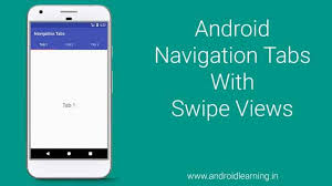 Android Tabs Android Navigation Tabs With Swipe Views Android Learning