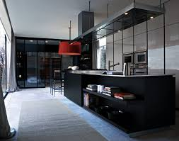 High End Simple Black Kitchen Cabinets