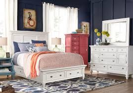 Belmar White 5 Pc Queen Panel Bedroom with Storage - Queen Bedroom ...