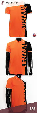 Armani Exchange Mens Shirts Orange Polo Armani Exchange