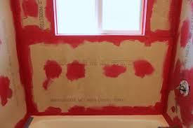 diy tile shower tub surround prepare the wall