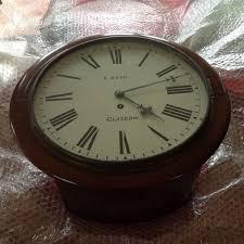 late victorian 8 day mahogany fusee wall clock around 1900