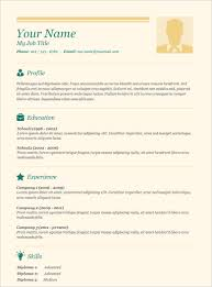 Resume Template Free Resumes Tips