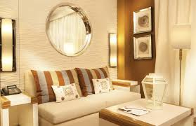 Mirrors Decorative Living Room Furniture Cheerful Small Gold Living Room With White Interiors