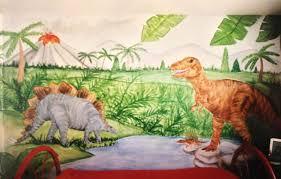 dinosaur mural wallpaper on wallpapersafari