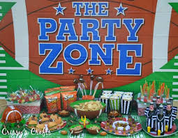 Party City Super Bowl Decorations Crissy's Crafts Superbowl Party Ideas 4