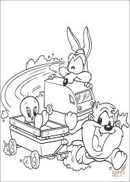 Small Picture Taz Tweety Coyote coloring page Free Printable Coloring Pages