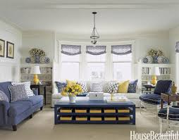 Brilliant Blue And Yellow Living Room White Blue Yellow Michigan Tom  Stringer
