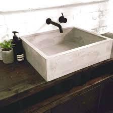 concrete basin sink meetly co kitchen diy concrete countertops installation