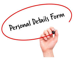 Employee Personal Details Form Signature Staff
